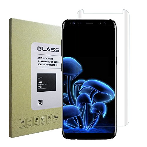 Galaxy S8 Screen Protector,Ultra High Definition Easy-to-install 3D Curved Case Friendly Glass for Samsung Galaxy S8