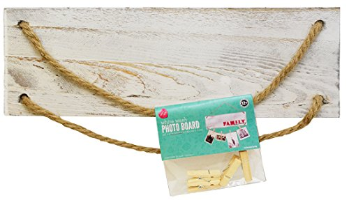 Lara's Crafts White Wash Rustic Plank Sign With Jute ...