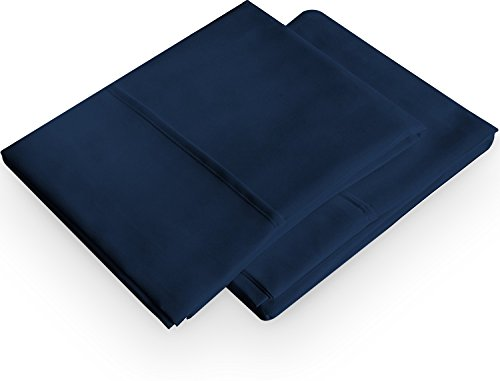 Luxury Queen Fitted Sheet Brushed Microfiber Navy Blue